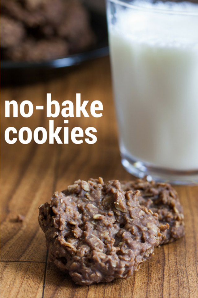 Easy No-bake Cookies Recipe - This is the EASIEST and BEST recipe I have found for no-bakes. A classic no-bake cookie recipe that includes sugar, cocoa, milk, butter, peanut butter, oats, and vanilla.