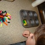 Recycle Your Broken Crayons by Melting Them in Muffin Tins momspark.net