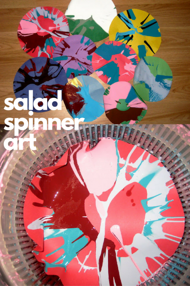 Create Paint Spin Art With Salad Spinners!