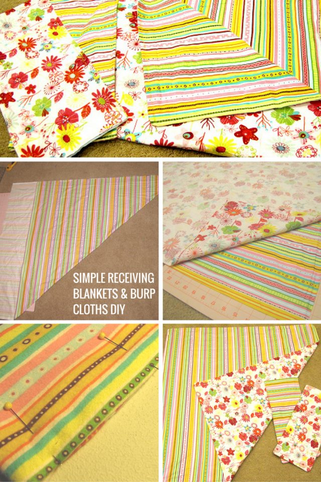 How To Make Simple and Easy Receiving Blankets and Burp Cloths