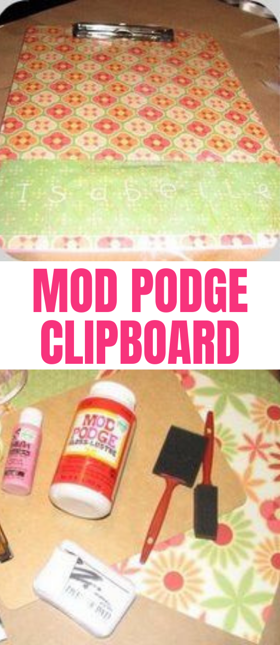 How To Make a Mod Podge Clipboard Craft