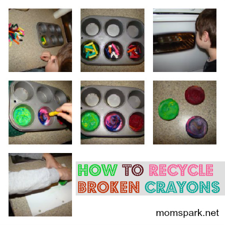 how to recycle broken crayons