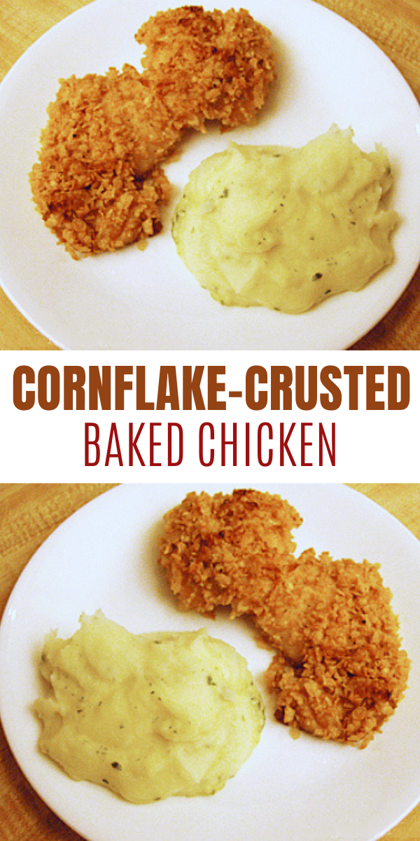 Easy Cornflake-Crusted Baked Chicken Recipe
