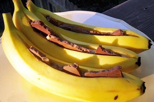 Grilled Bananas with Chocolate Recipe