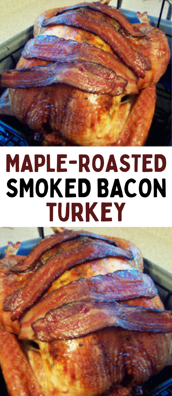 Maple-Roasted Turkey with Sage, Smoked Bacon, and Cornbread Stuffing