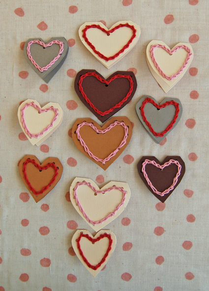 crocheted heart Valentine's Day