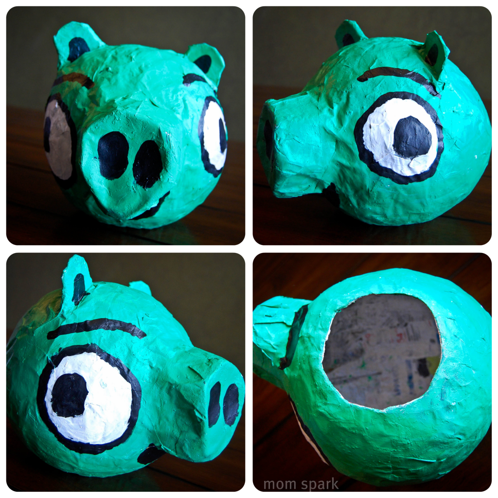 How to Make a Paper Mache Angry Birds Pig