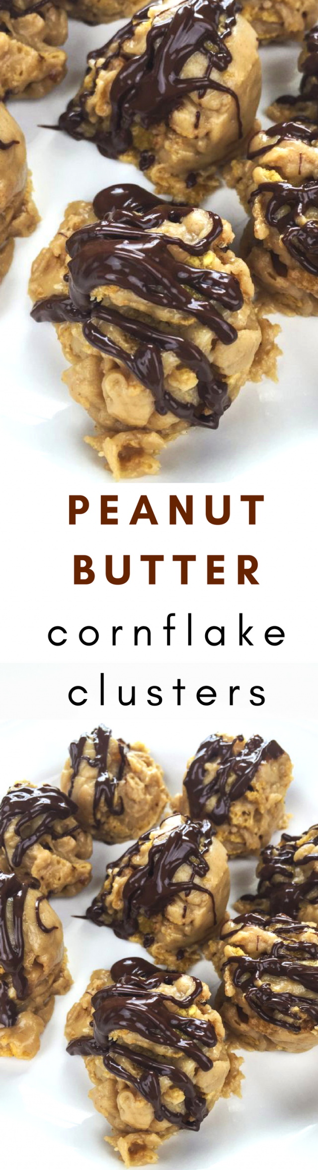 Peanut Butter Cornflake Clusters Dessert. You probably have all of these ingredients in your pantry RIGHT NOW.