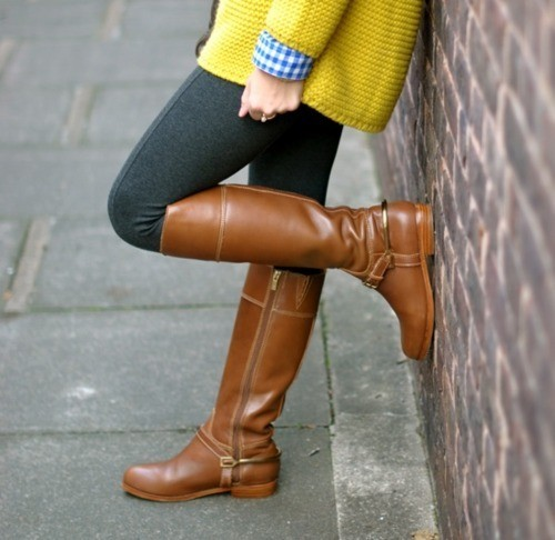 sweater tights fall fashion boots