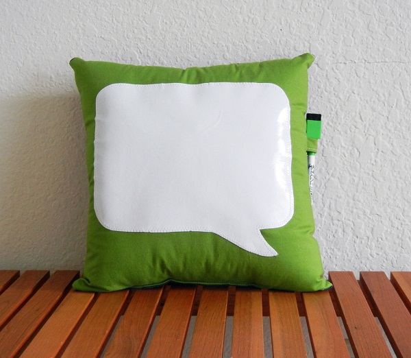 conversation bubble pillow