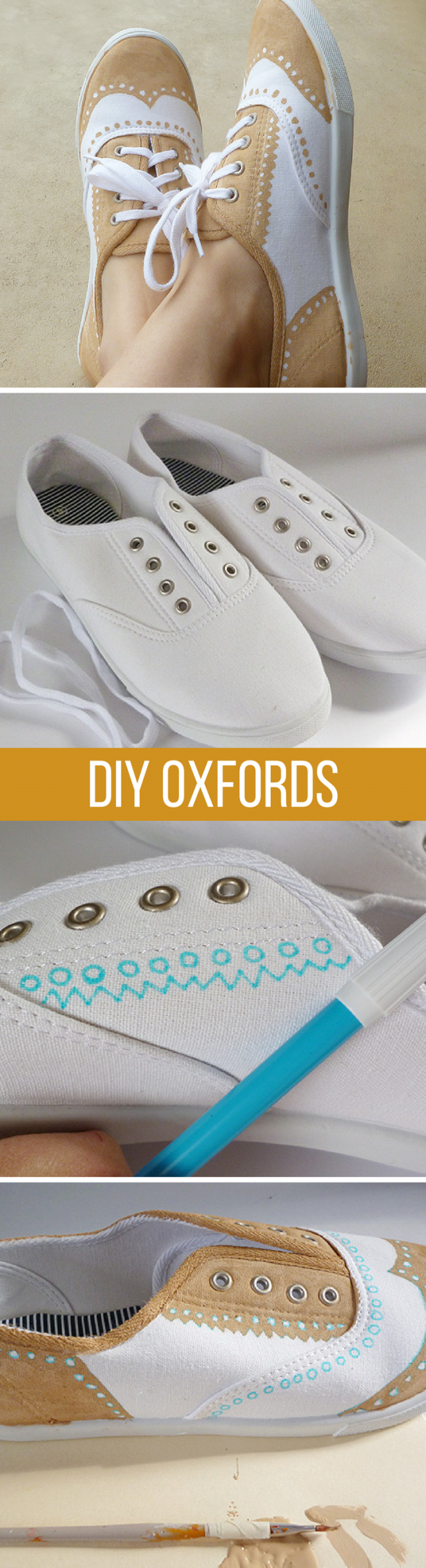 Shoe Makeover: Faux Painted Oxfords