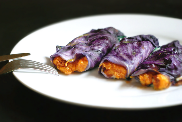 butternut squash filled cabbage rolls paleo recipe