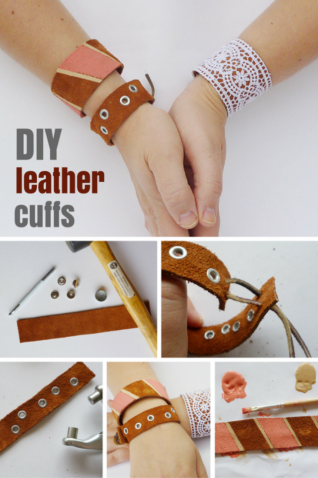DIY On Trend Leather Cuffs