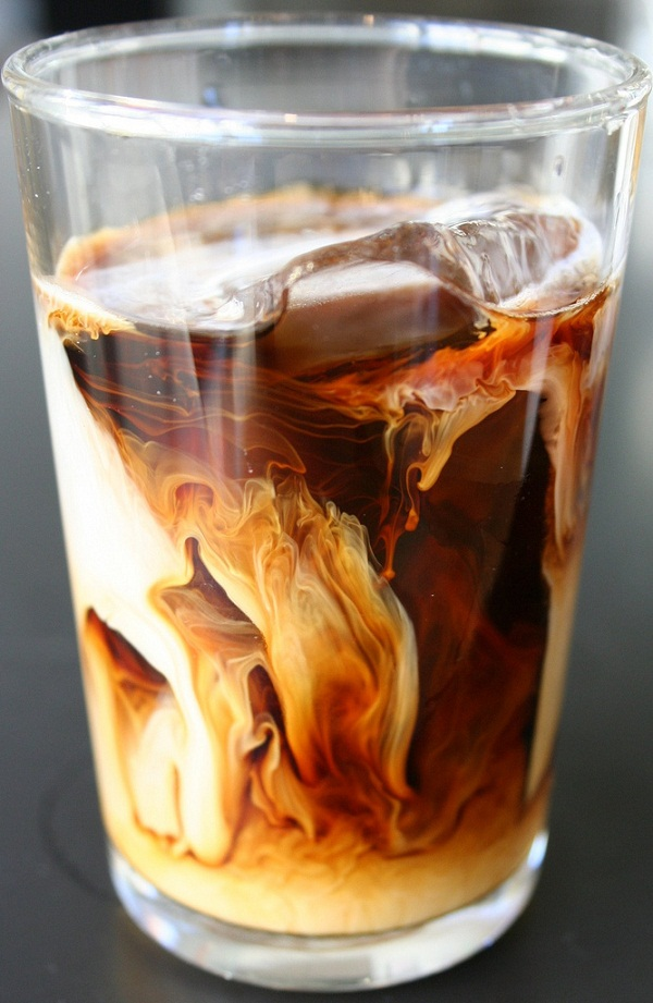 iced coffee swirl
