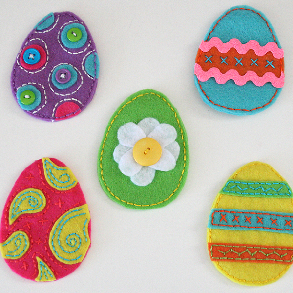Easy Easter Felt Egg Pouches Craft Tutorial