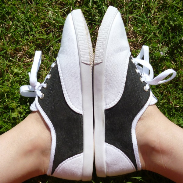 Faux Saddle Shoes Tutorial Makeover