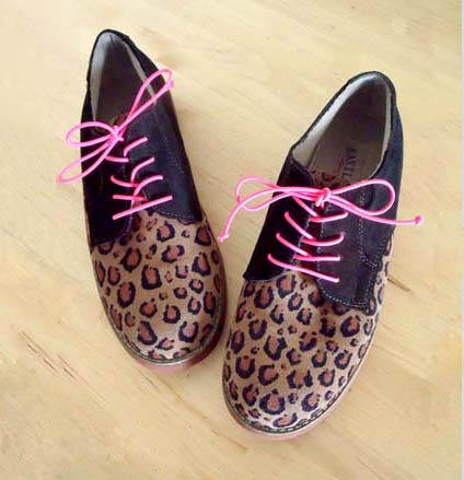 Leopard and Neon Oxfords Makeover