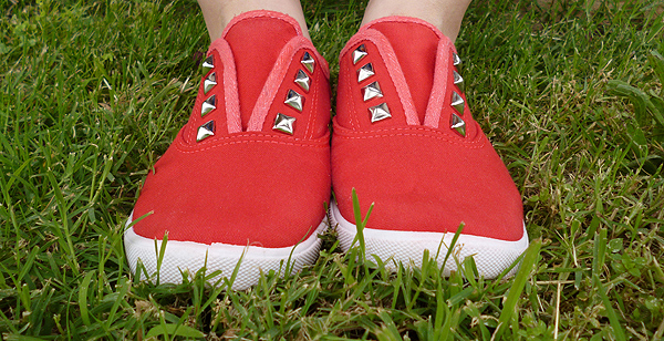Studly Studded Tennies Makeover