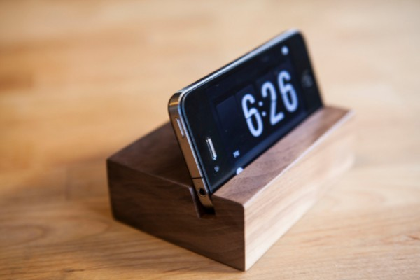 Wood iPhone Dock Stand Father's Day