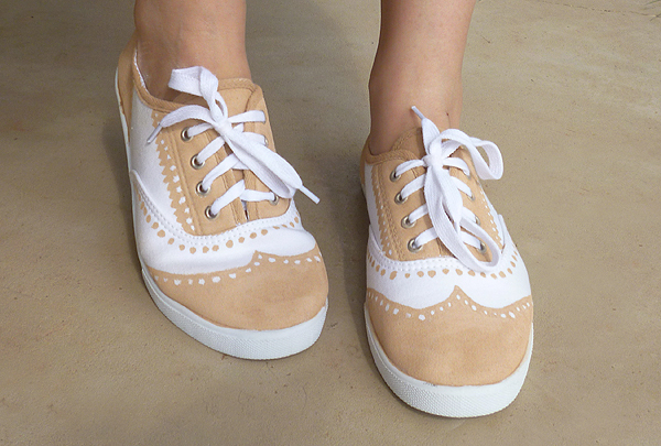 Faux Painted Oxfords Shoe Makeover