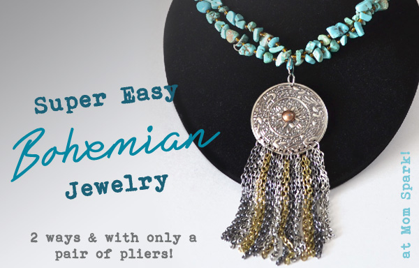 Super Easy Bohemian Jewelry Tutorial momspark.net
