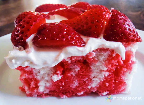 July 4th or Memorial Day Dessert: Strawberry American Flag Poke Cake Recipe