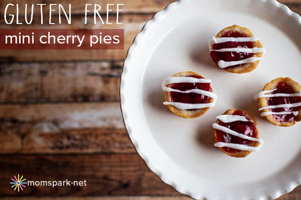 gluten free mini cherry pies