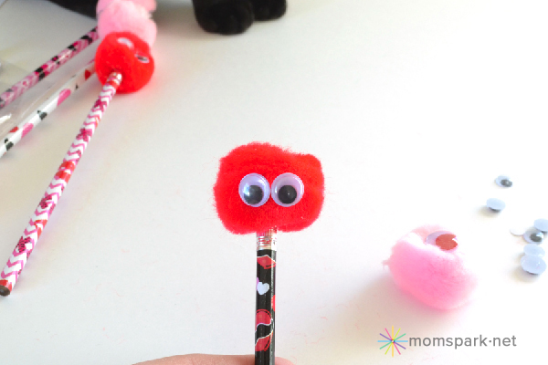 Kid Craft: Valentine Monster Pencil Toppers