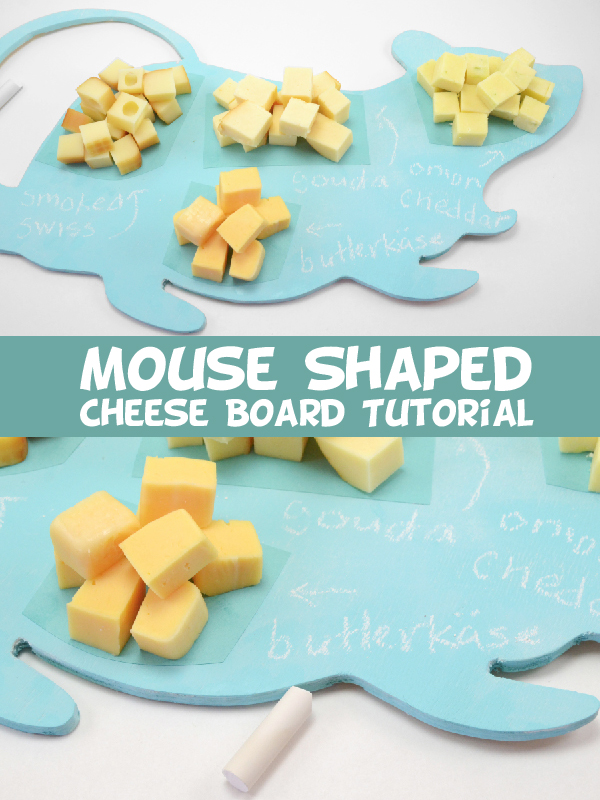 Mouse Shaped Cheese Board Tutorial