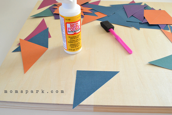 DIY Geometric Wall Art with Mod Podge