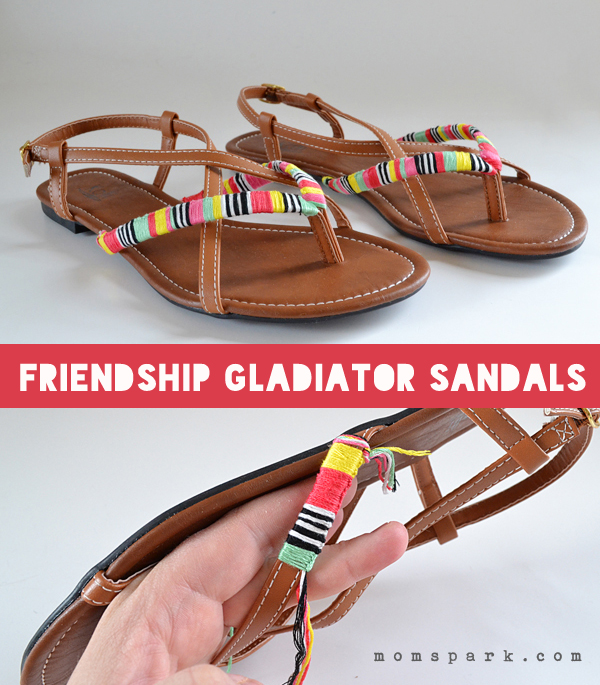 Friendship Gladiator Sandals Tutorial