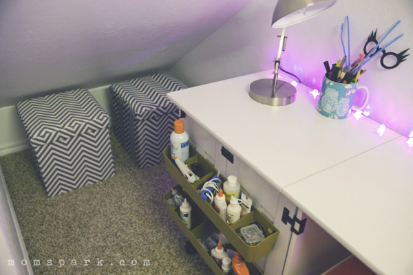 Small Space Craft Room