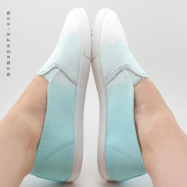 Shoe Makeover: Ombre Painted Sneakers in Any Color