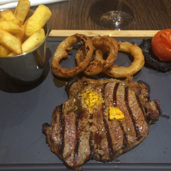 English steak and chips