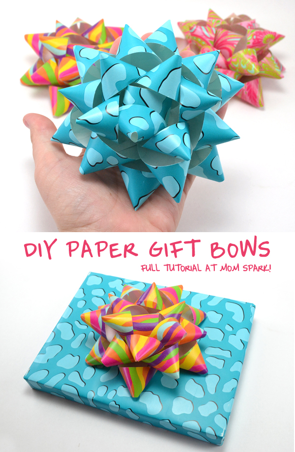 How to Make DIY Paper Gift Bows for Presents