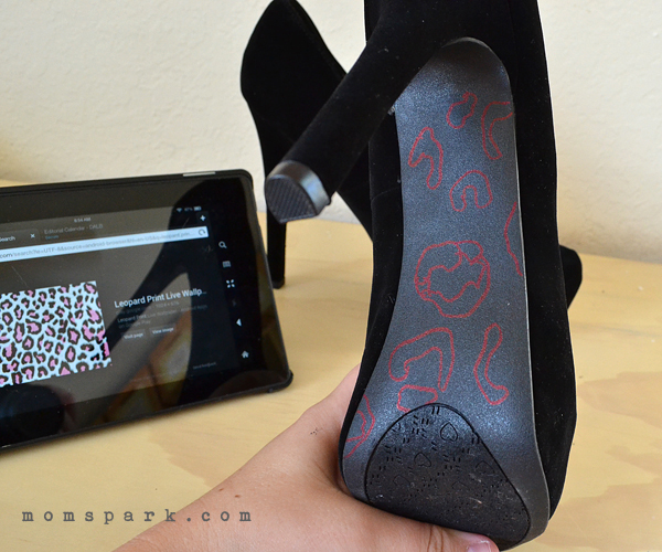 Glittered soles are awesome but why not throw in a pattern, too?