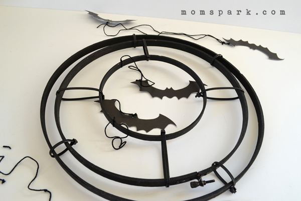 Make a cheap and freaky bat chandelier with supplies you might already have on hand!