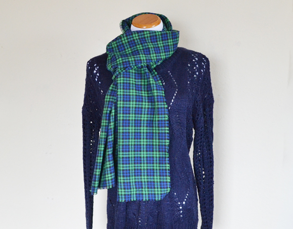 All you need is flannel fabric and a seam ripper to make awesome scarves!