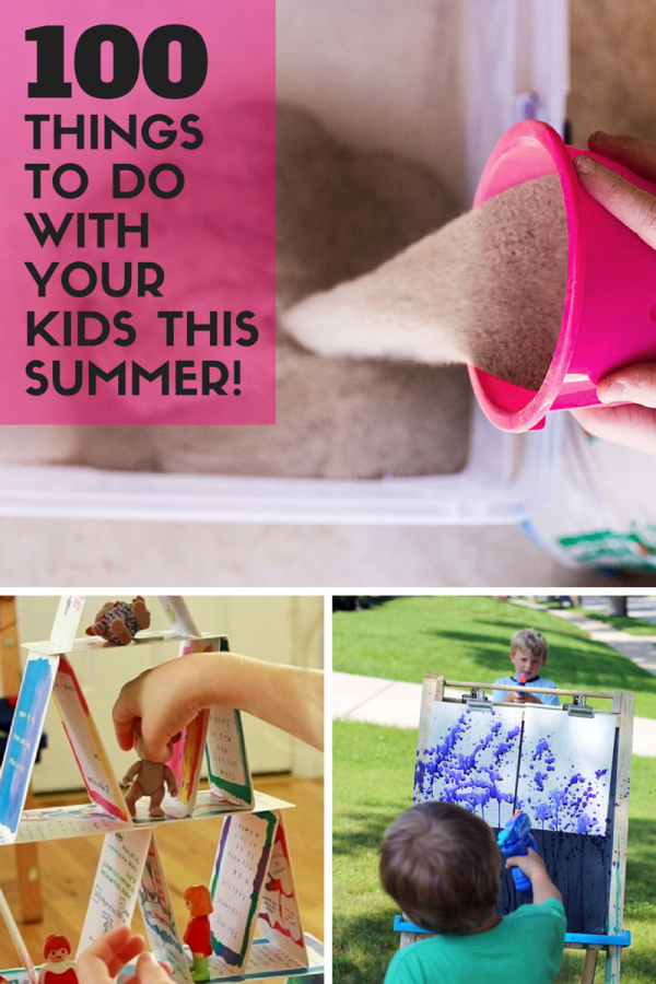 100 Things To Do With Your Kids This Summer! The end of the school year always tends to go by much more quickly, doesn't it? Summer will be here before we know it and with it's arrival comes the opportunity for some serious family fun! Today I'm sharing 100 things to do with your kids this summer and it's making me crave the warmer weather even more!