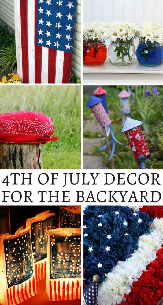 Fourth Of July Decor For Your Backyard! Canada Day is coming up soon for the folks in my neck of the woods, but for our pals to the south, it's time to start thinking about the Fourth of July! Today I wanted to share some of my favorite red, white, and blue decor ideas that you can use to spruce up your backyard this Independence Day!
