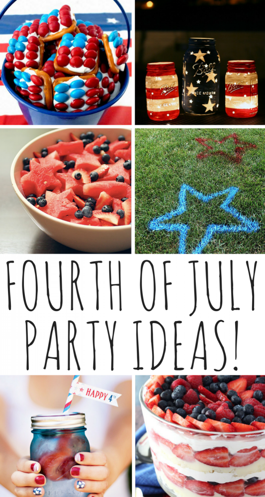 Fourth Of July Party Ideas! Planning to celebrate in style this Fourth of July? Today I'm sharing some fun red, white, and blue party ideas -- from recipes to cool DIY decor inspiration -- so you'll be all set to light your sparklers, fire up the BBQ, and enjoy some quality time with family and friends!