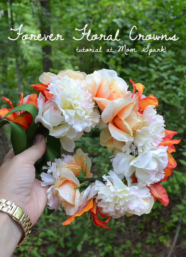 Floral crowns are loved by ladies of all ages! While fresh flower crowns are great, making some forever crowns with faux florals are such a hit with the little girls!