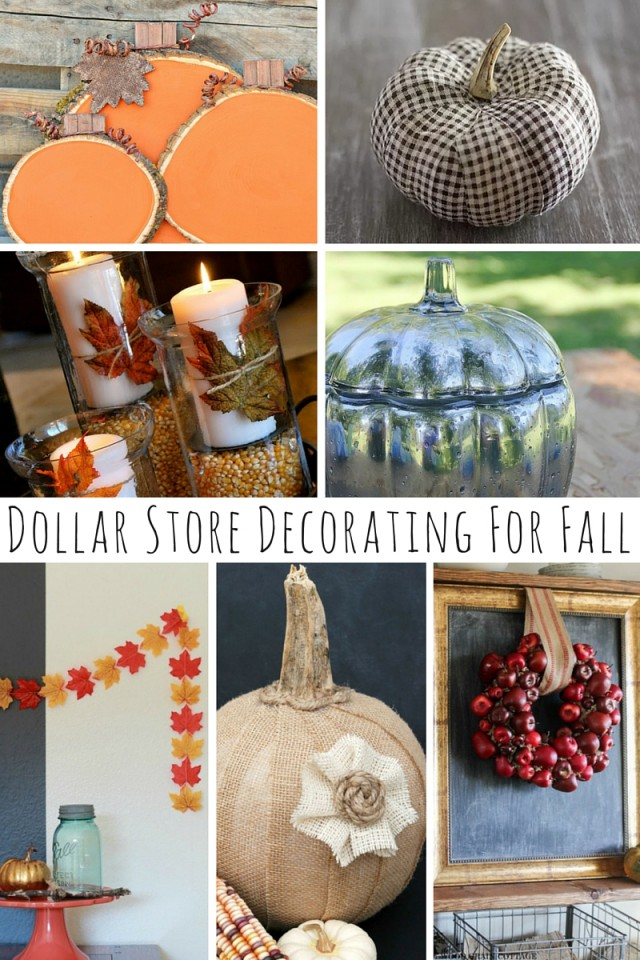 Dollar Store Decorating For Fall