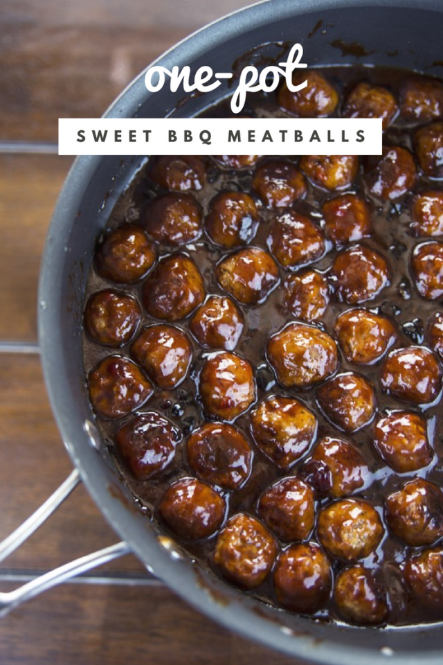 One-Pot Sweet Barbecue Meatballs