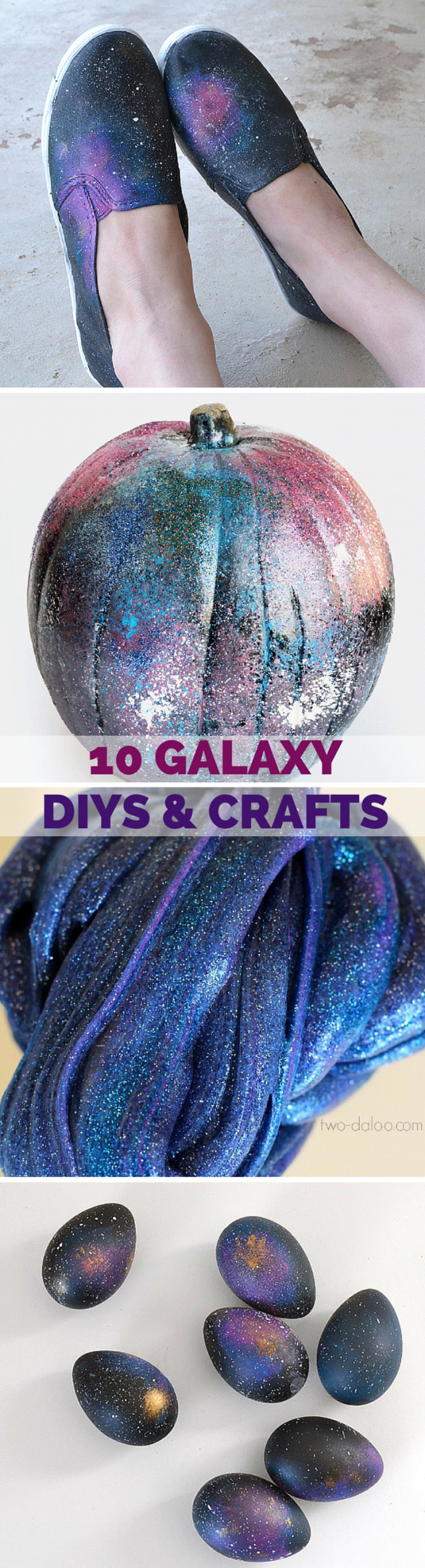 10 Galaxy DIYs and Crafts! It seems that galaxy/nebula/space crafts and diys are all the rage these days and there is a good reason why. It's cool!