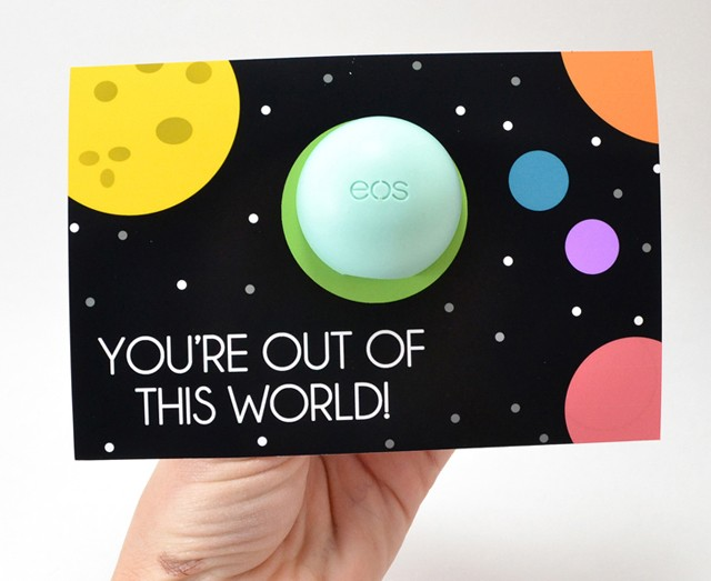 Space Lip Balm Valentine Printables