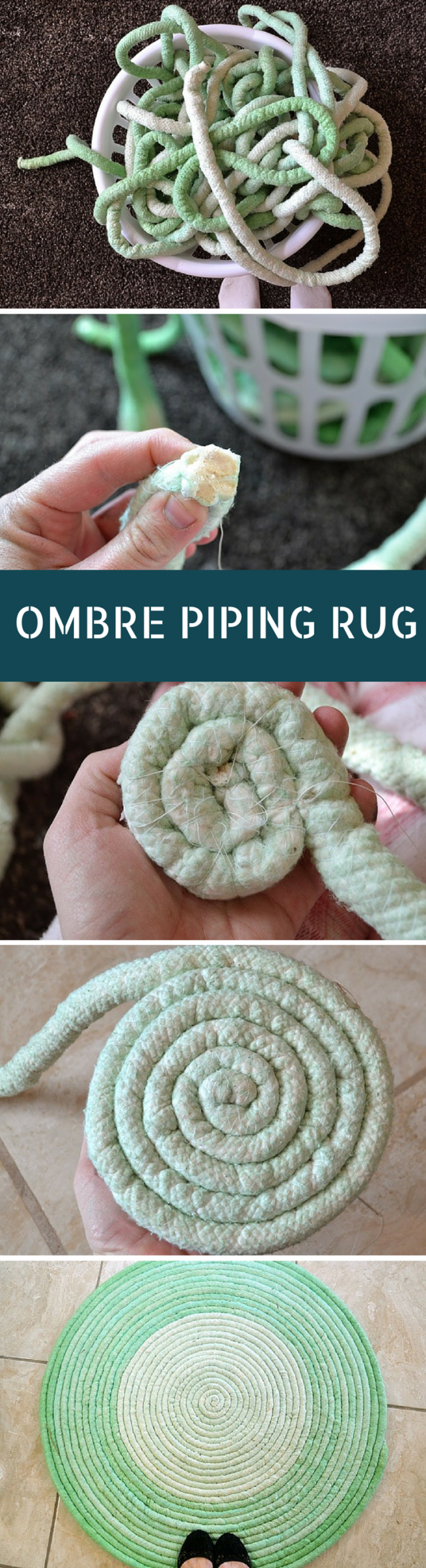 Ombre Cotton Piping Rug