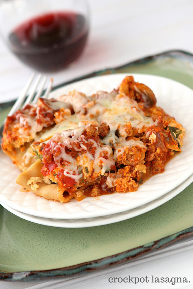 Crockpot Slow Cooker Lasagna