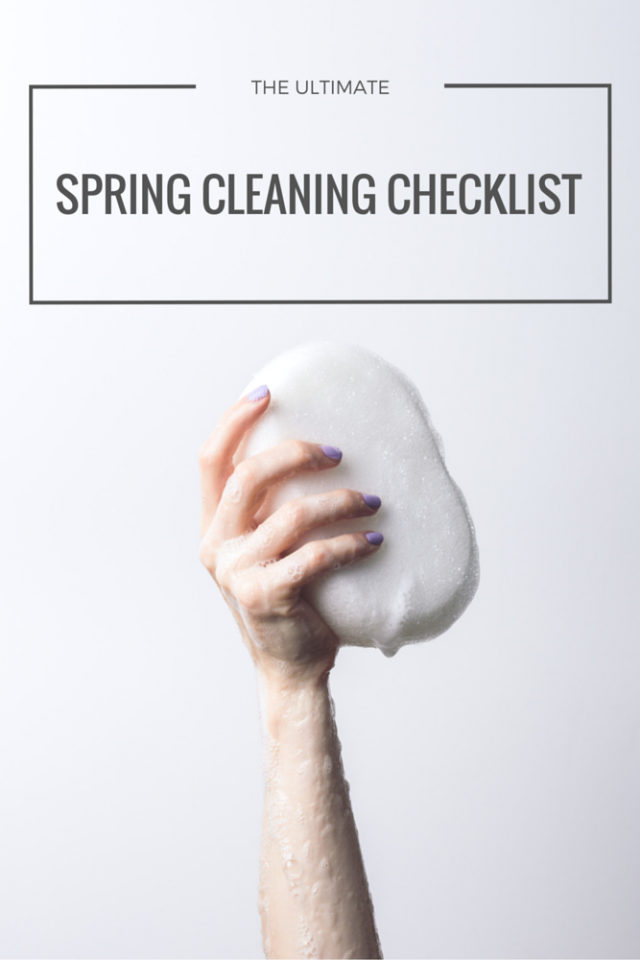 The Ultimate Spring Cleaning Checklist! {printable}