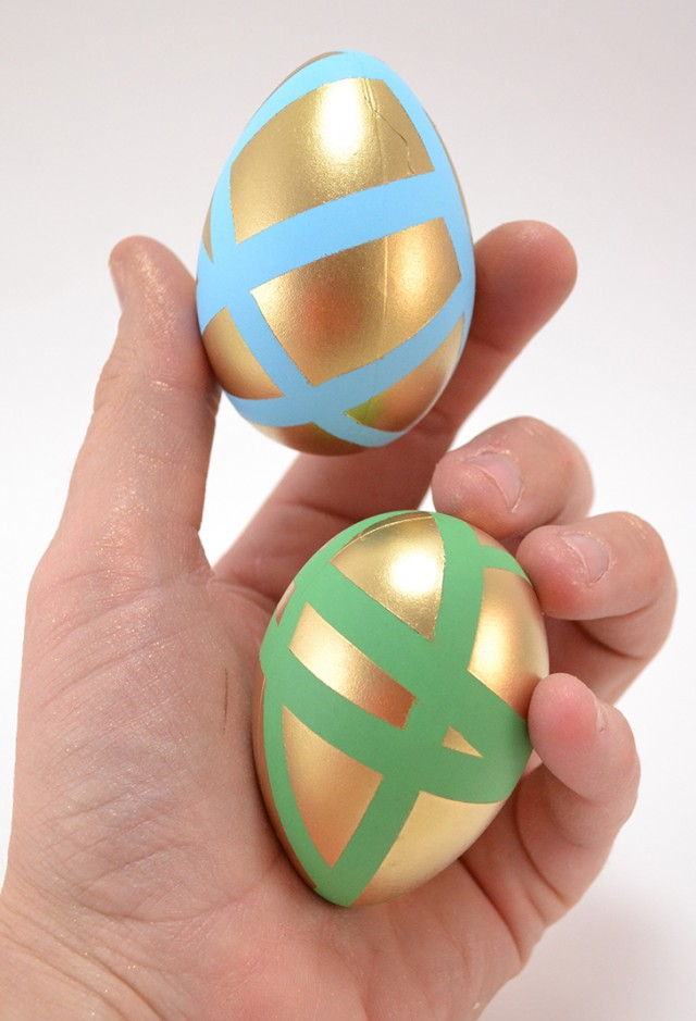 These pastel eggs get a pop of gold for fun and modern Easter eggs!